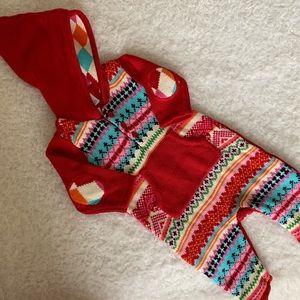 🆕  Baby Gap Red hoodie Romper  NWT